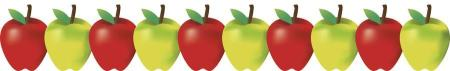 green-red-apple-border